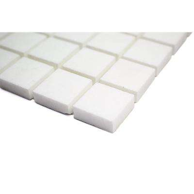 White Thassos Brick Joint  12 in. x 12 in. Polished Mosaic Tile