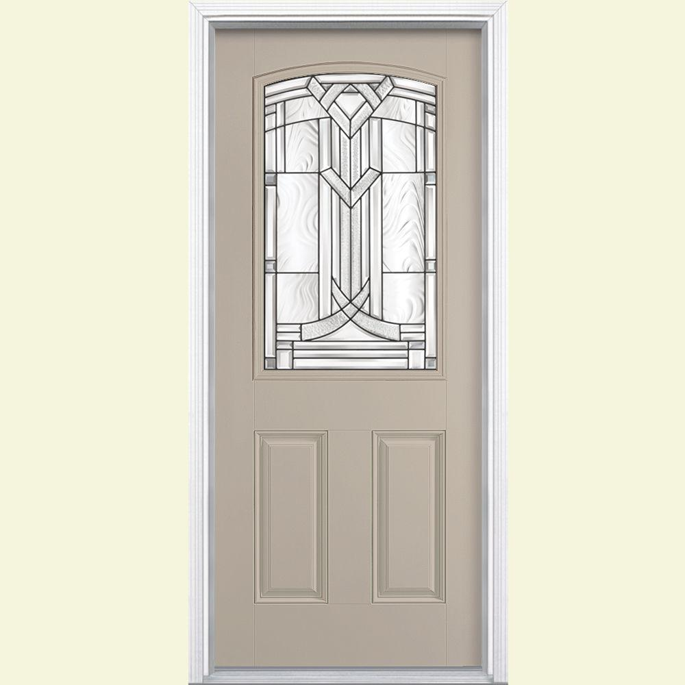 Masonite 36 In. X 80 In. Chatham Camber Top Half Lite Right Hand