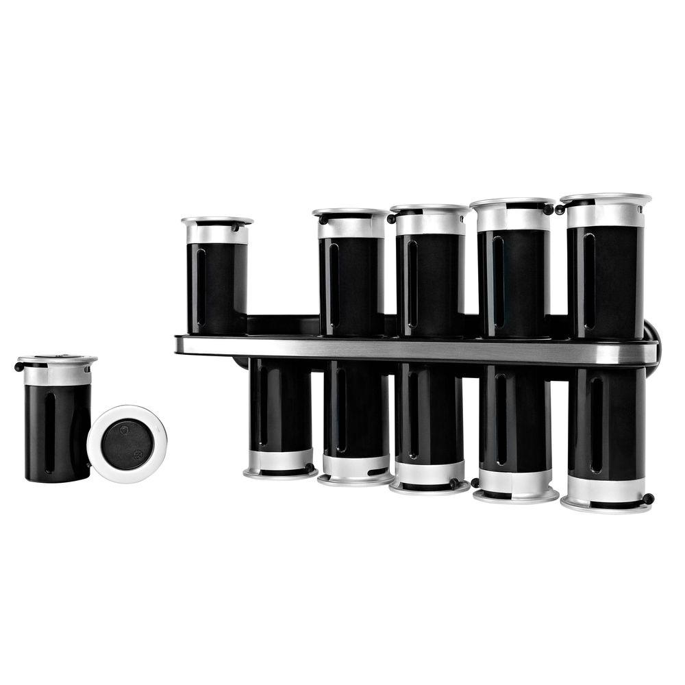 Zevro Zero Gravity 12 Canister Wall Mount Magnetic Spice