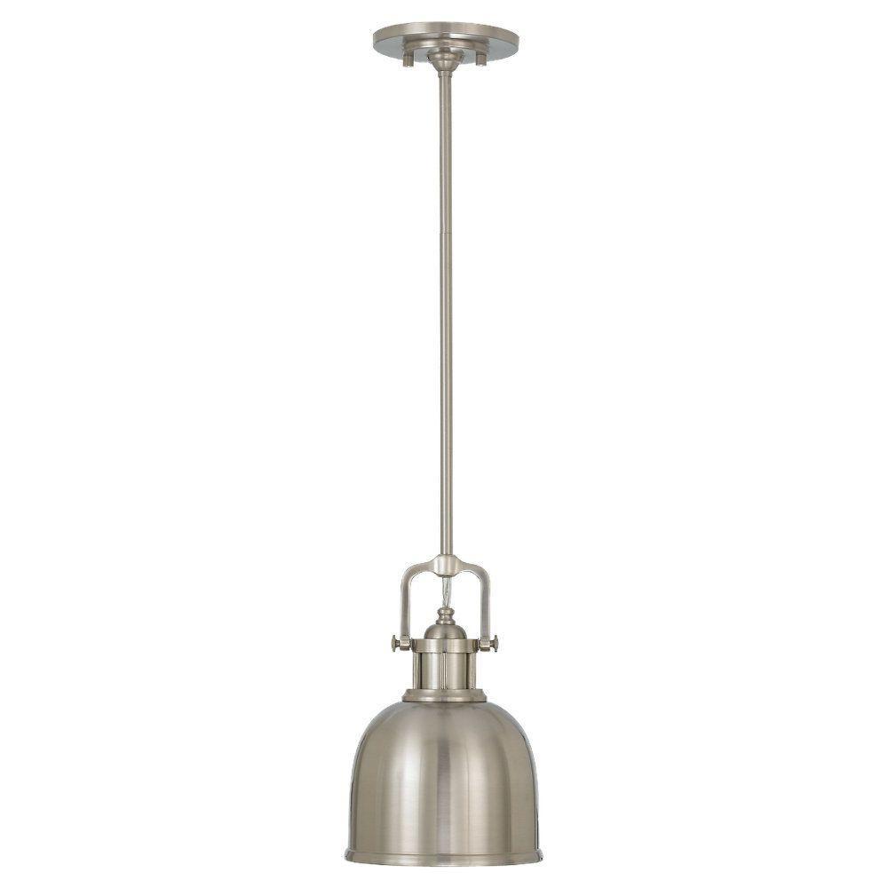 Parker Place 1-Light Brushed Steel Mini Pendant
