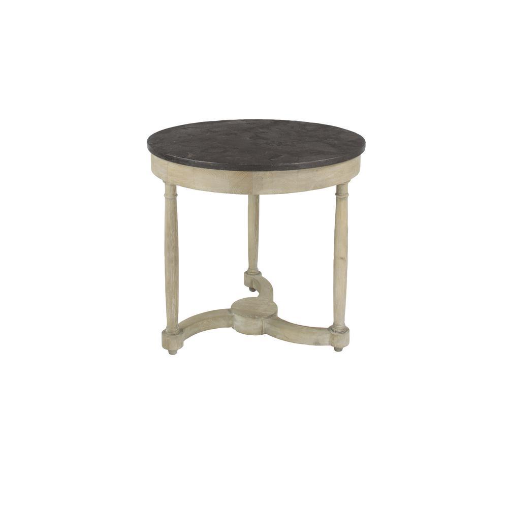 Litton Lane Gray Bluestone and Oak Accent Table 46343