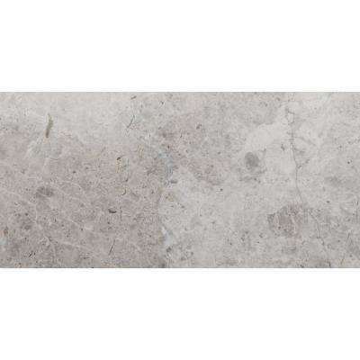 Marble Silver Polished 15.98 in. x 31.97 in. Marble Floor and Wall Tile (3.55 sq. ft.)