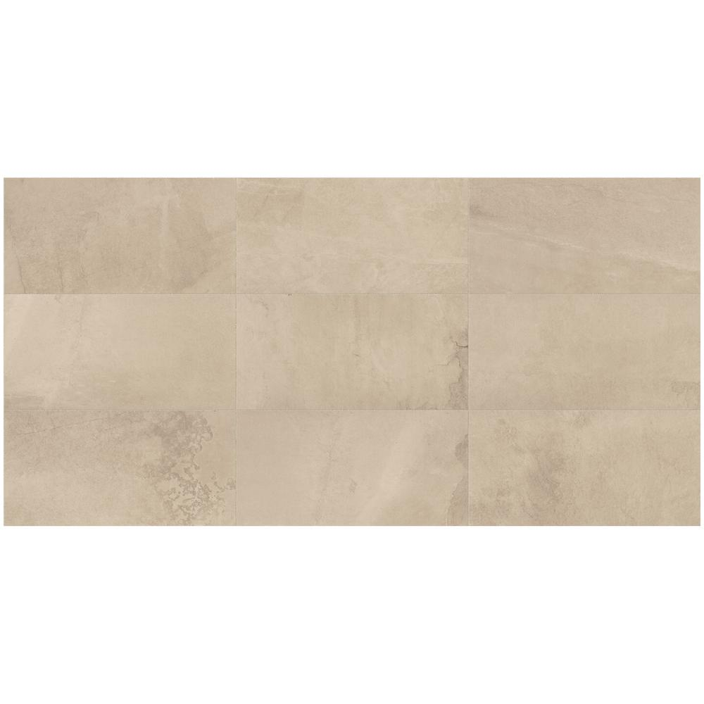 North Lake Ultra Beige Matte 12 in. x 24 in. Glazed