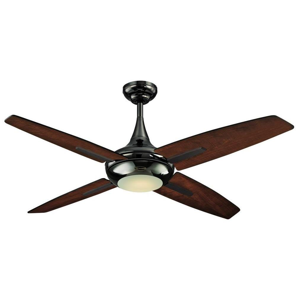 Westinghouse comet 52 in indoor matte black finish ceiling fan led indoor gun metal ceiling fan aloadofball