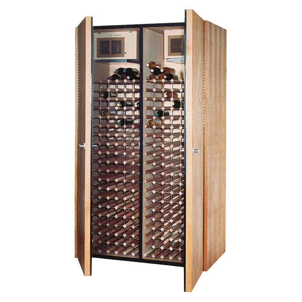 400-Bottle Wine Cellar in Medium Walnut