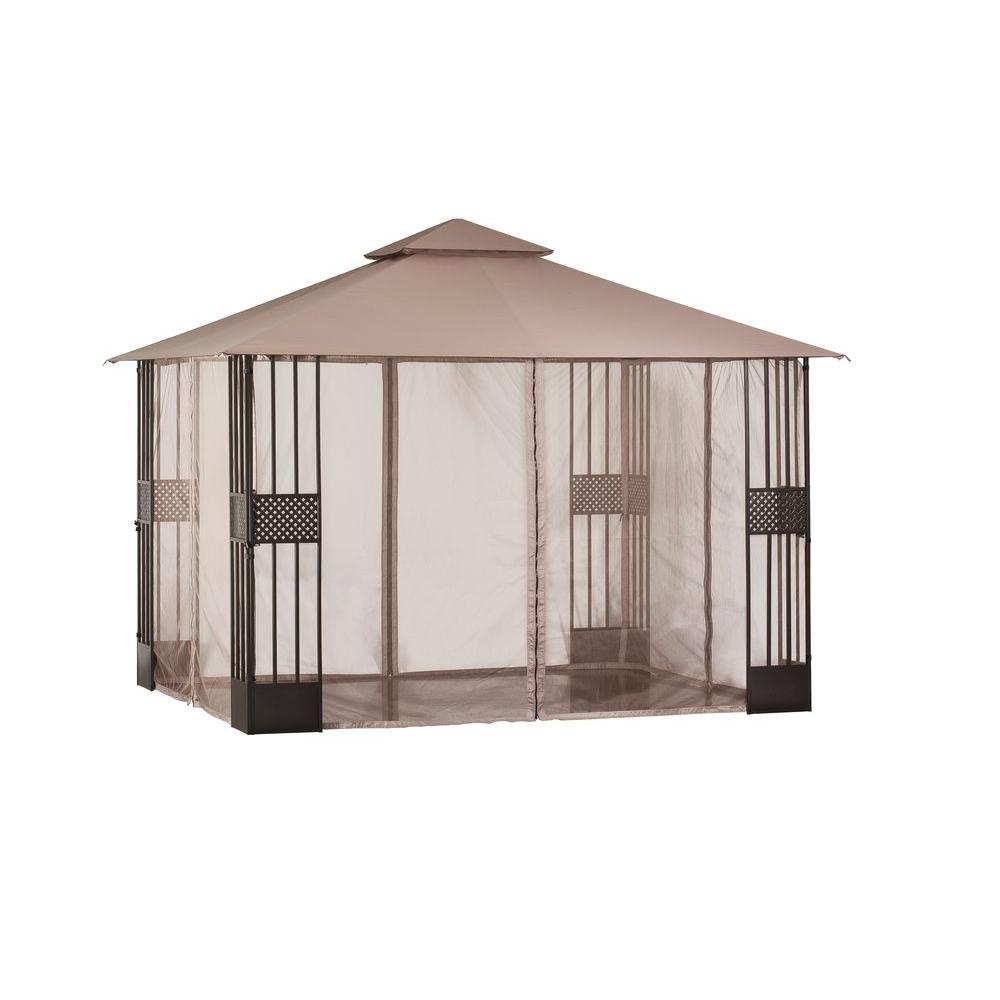 Hampton Bay 12 Ft X 10 Ft Gazebo With Mosquito Netting