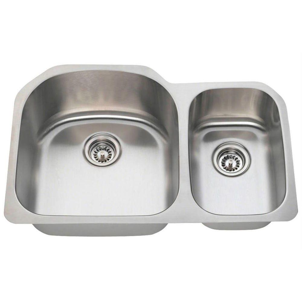 Tremendous Polaris Sinks Undermount Stainless Steel 32 In Double Bowl Kitchen Sink Download Free Architecture Designs Sospemadebymaigaardcom