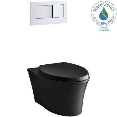Veil Wall-Hung Two-piece 0.8/1.6 GPF Dual Flush Elongated Toilet in Black