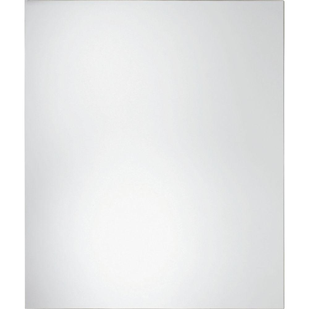 Glacier Bay 30 in. L x 36 in. W Polished Edge Wall Mirror