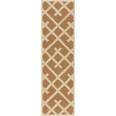 Congo Adrienne Tan 2 ft. x 8 ft. Indoor Runner Rug