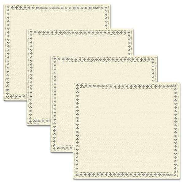 Canterbury Classic 17 in. x 17 in. Beige/Cream Cotton/Polyester Napkin (Set of 4)
