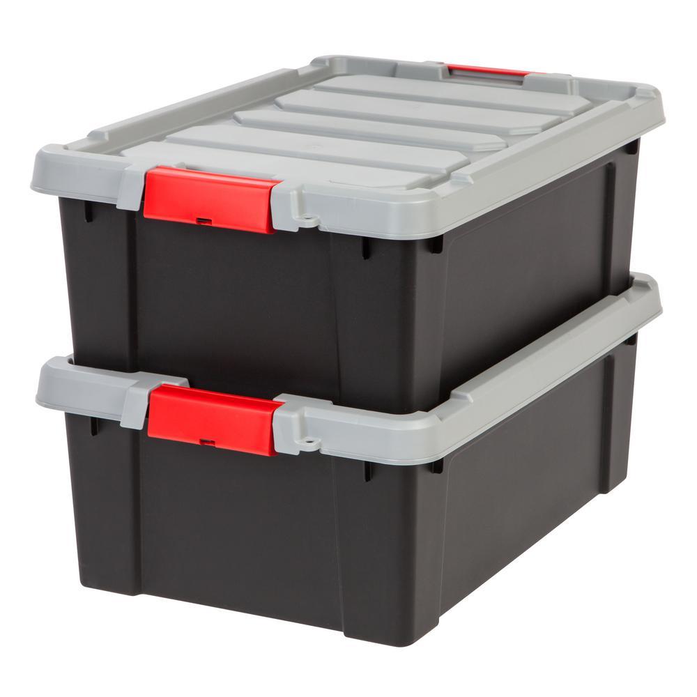 10 Gal. Store-It-All Storage Bin in Black (2-Pack)
