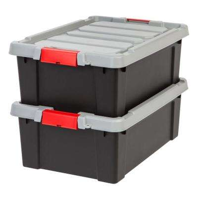 Popular 10 Gallon Storage Bins With Lids - black-iris-storage-bins-totes-586520-64_400_compressed  Pictures_871637.jpg