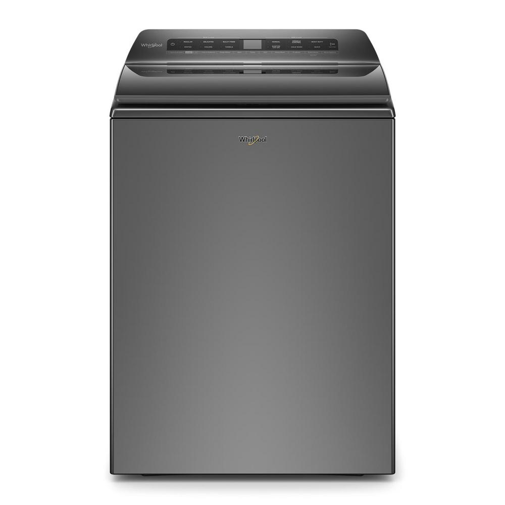 Whirlpool 4.8 cu. ft. Smart Chrome Shadow Top Load Washing Machine with Load and Go, Built-In Water Faucet and Stain Brush