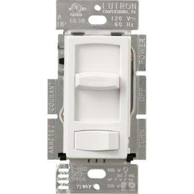Skylark Contour 150-Watt Single Pole/3-Way CFL/LED Dimmer, White