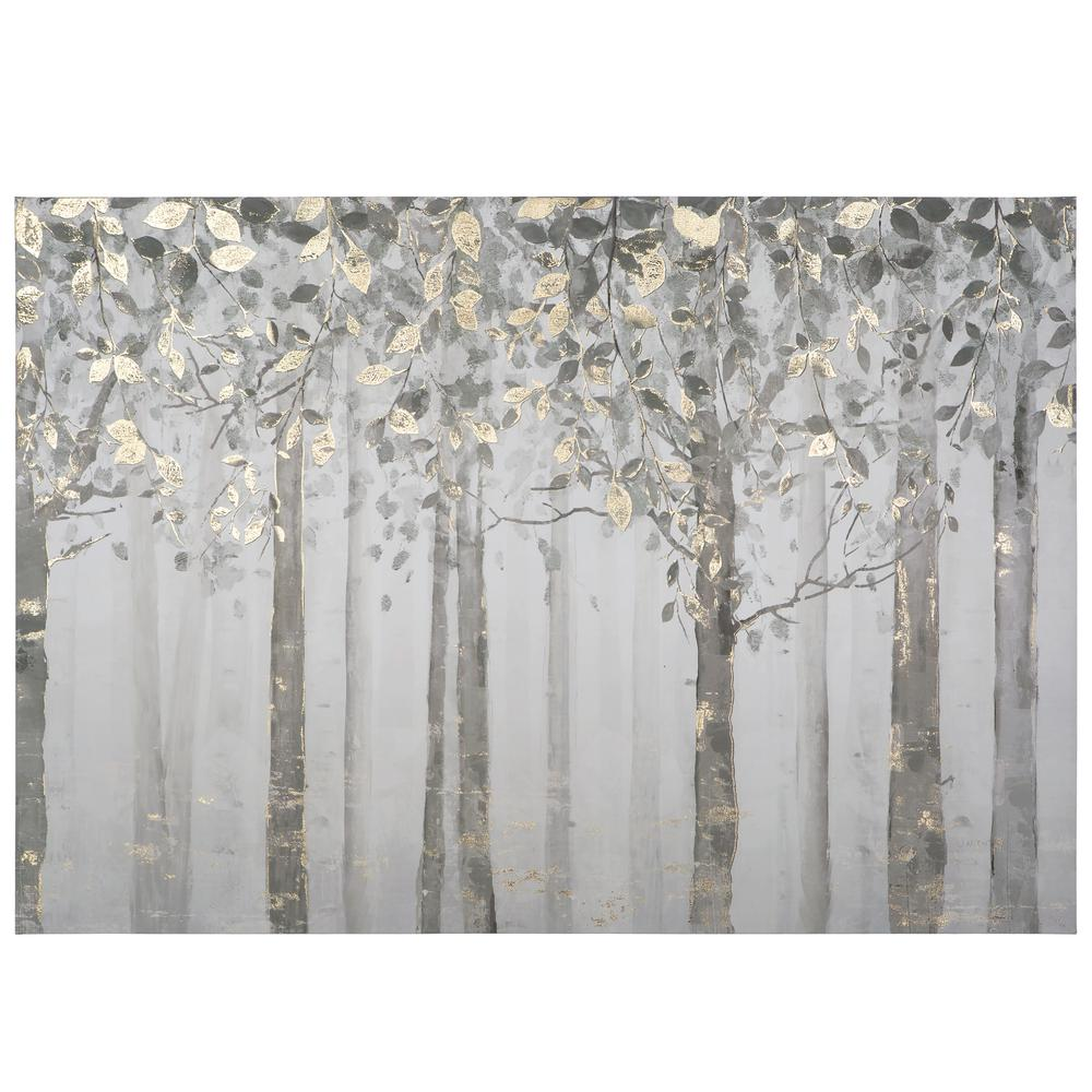 Yosemite home decor 28 in x 40 in grey and yellow trees printed canvas wall art yj9378a the home depot