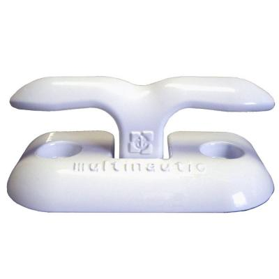 6 in. Aluminum Flip-Up Cleat, White