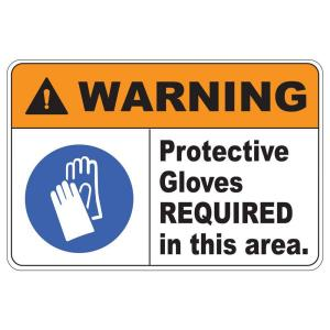 Click here to buy  Rectangular Plastic Warning Protection Gloves Safety Sign.