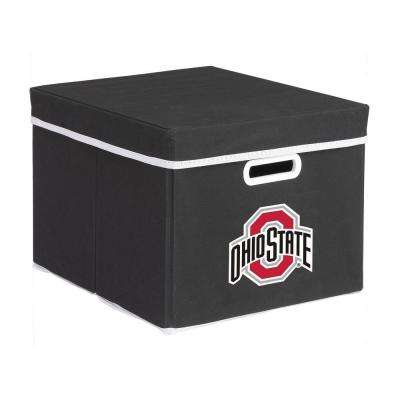 College Stackits Ohio State University 12 in. x 10 in. x 15 in. Stackable Black Fabric Storage Cube