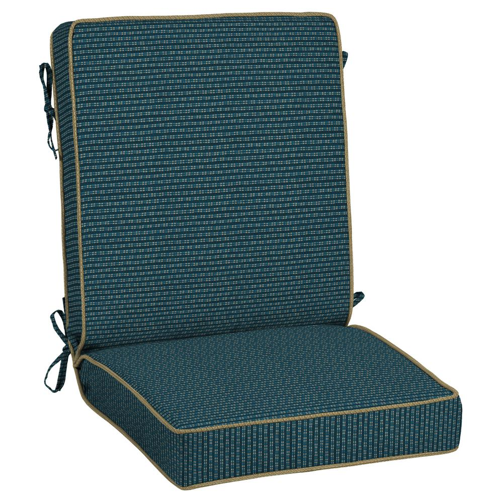 Rhodes Indigo Seas Outdoor Dining Chair Cushion