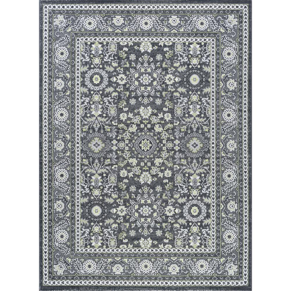 Gray Area Rug 8x11: Tayse Rugs Milan Gray 7 Ft. 10 In. X 10 Ft. 3 In. Area Rug