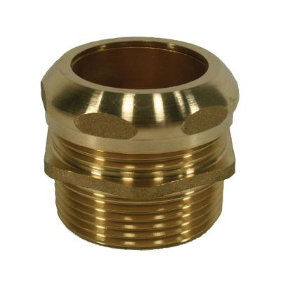 1-1/2 in. MIP x 1-1/2 in. Slip Waste Connector Fitting in Brass