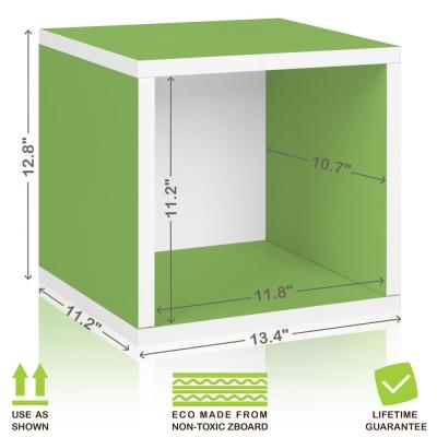 13 in. H x 13 in. W x 11 in. D Green Recycled Materials 1-Cube Storage Organizer