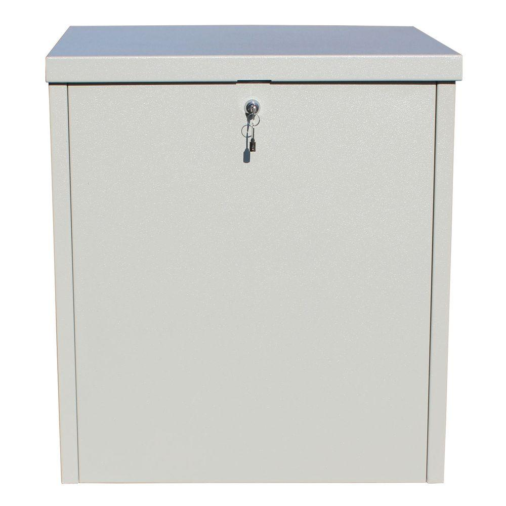 ParcelChest Textured Gray Ground Mount Locking Parcel Box