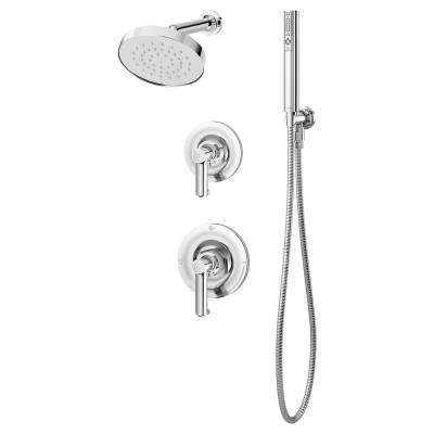 Museo 1-Handle Wall Mounted Shower Trim Kit in Chrome with Hand Shower (Valve Not Included)