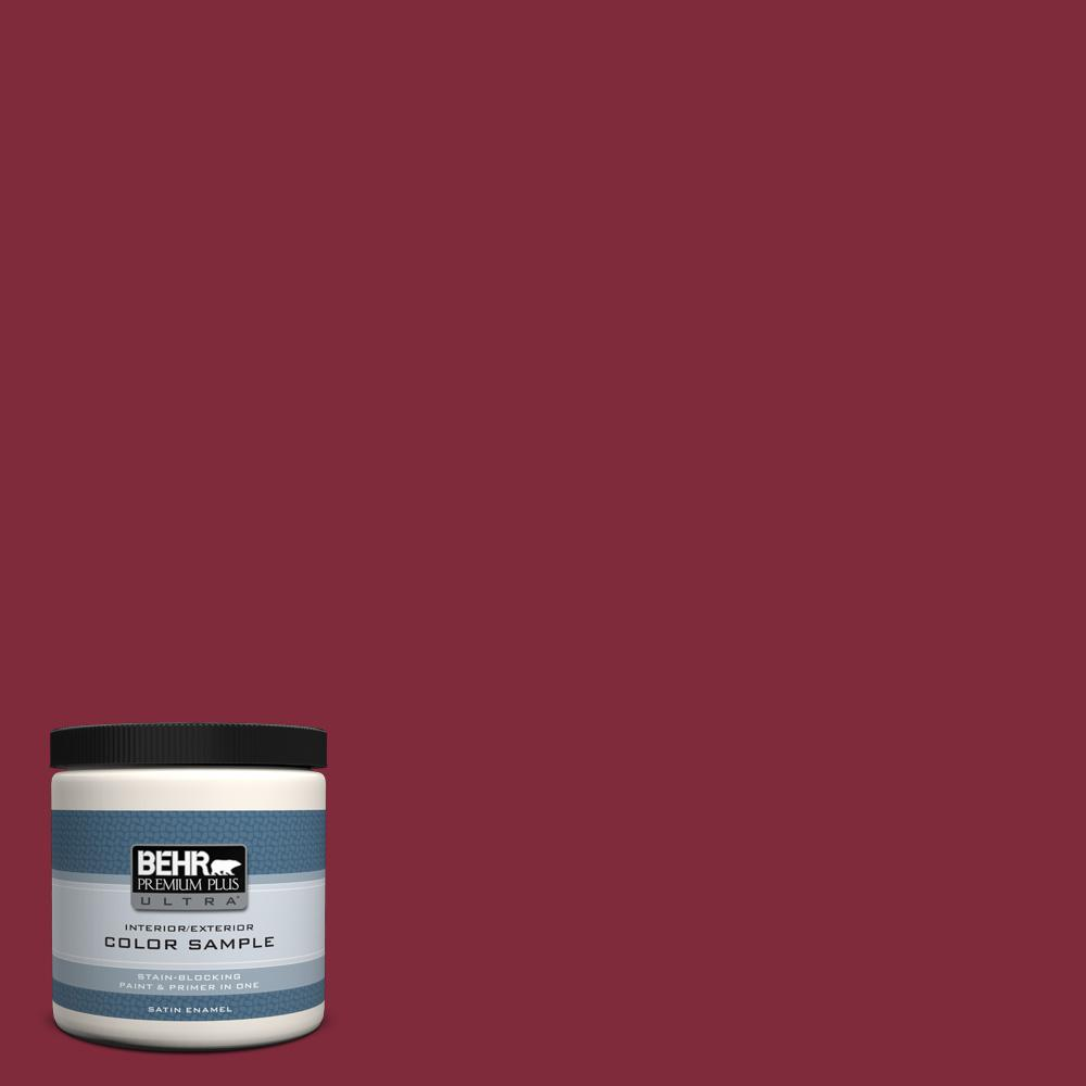 S H 130 Red Wine Satin Enamel Interior Exterior Paint And Primer In One Sample