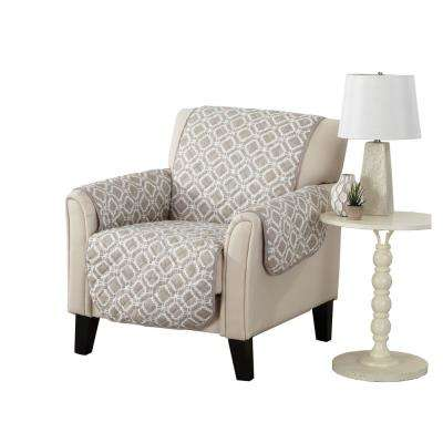 Liliana Collection Silver Cloud Printed Reversible Chair Furniture Protector