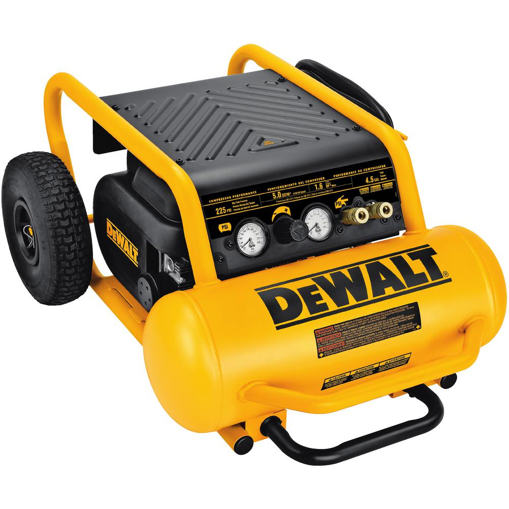 dewalt 4 5 gal portable electric air compressor d55146 the home depot. Black Bedroom Furniture Sets. Home Design Ideas