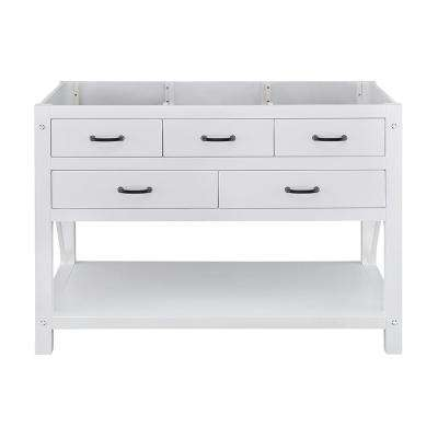 Avondale 48 in. W x 22 in. D Vanity Only in White