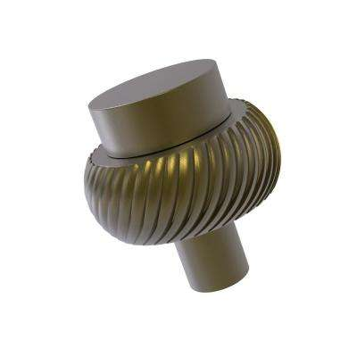 1-1/2 in. Cabinet Knob in Antique Brass