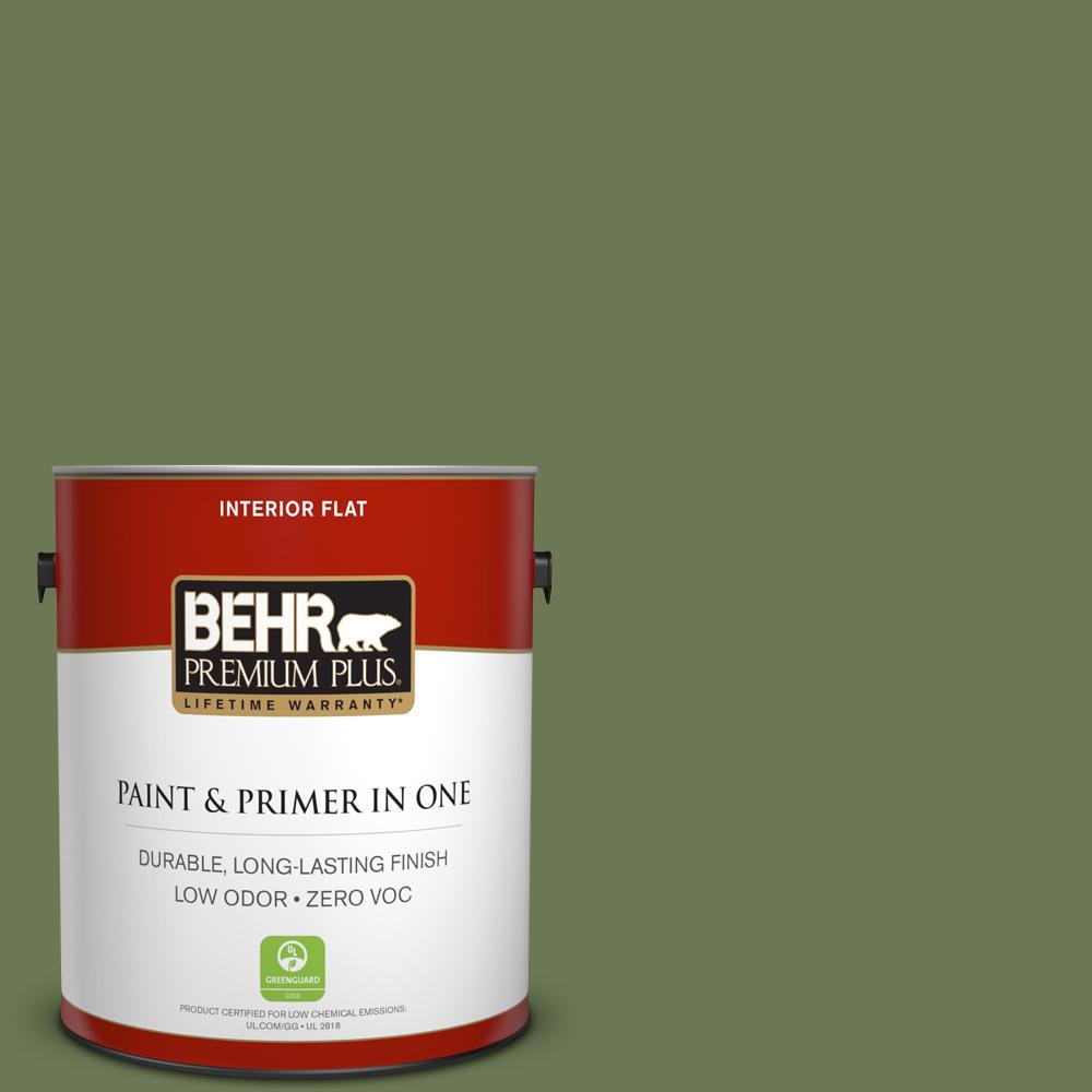 BEHR Premium Plus 1-gal. #BIC-56 Jalapeno Flat Interior Paint