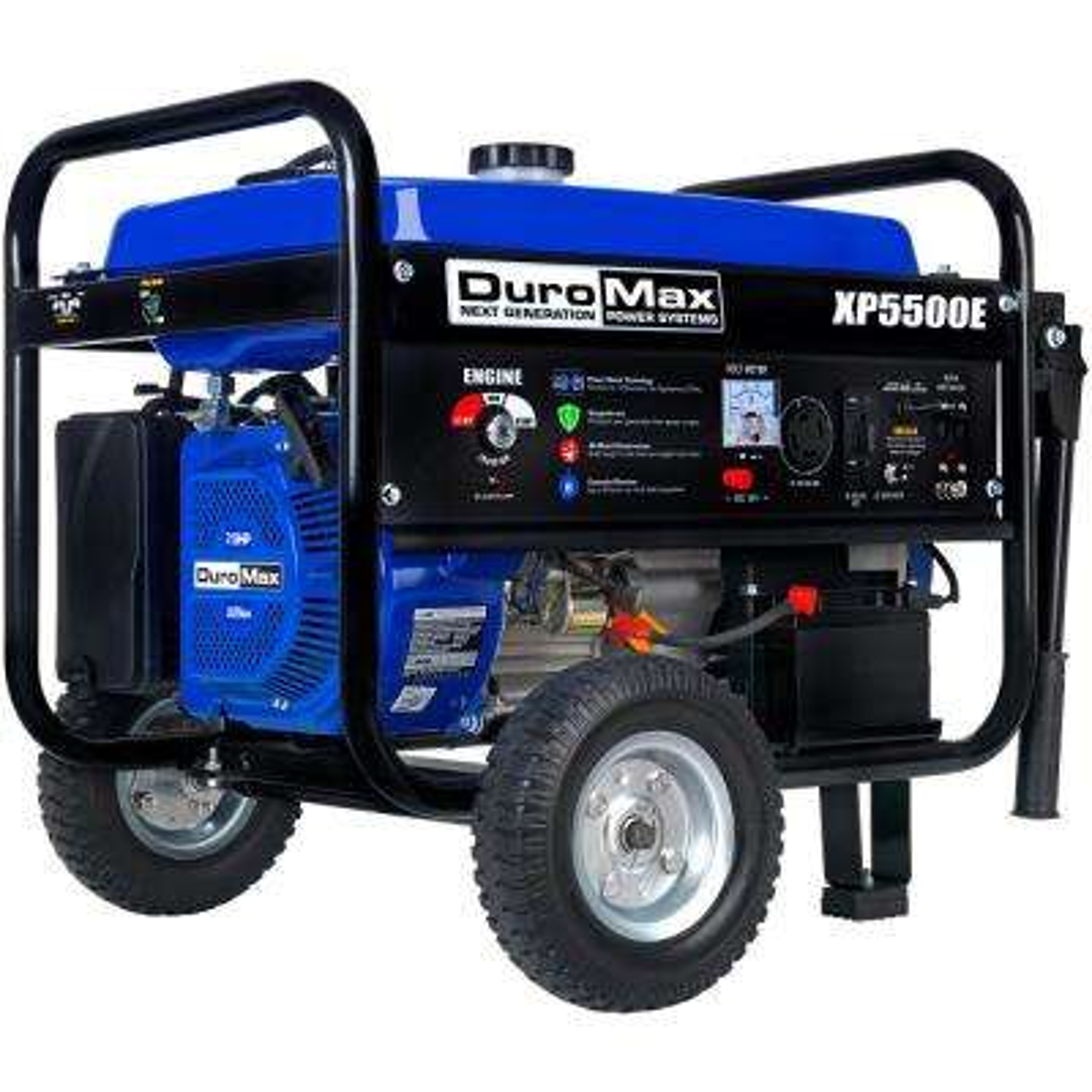 4,500-Watt 7.5 HP Electric Start Gasoline Powered Portable Generator with Wheel Kit