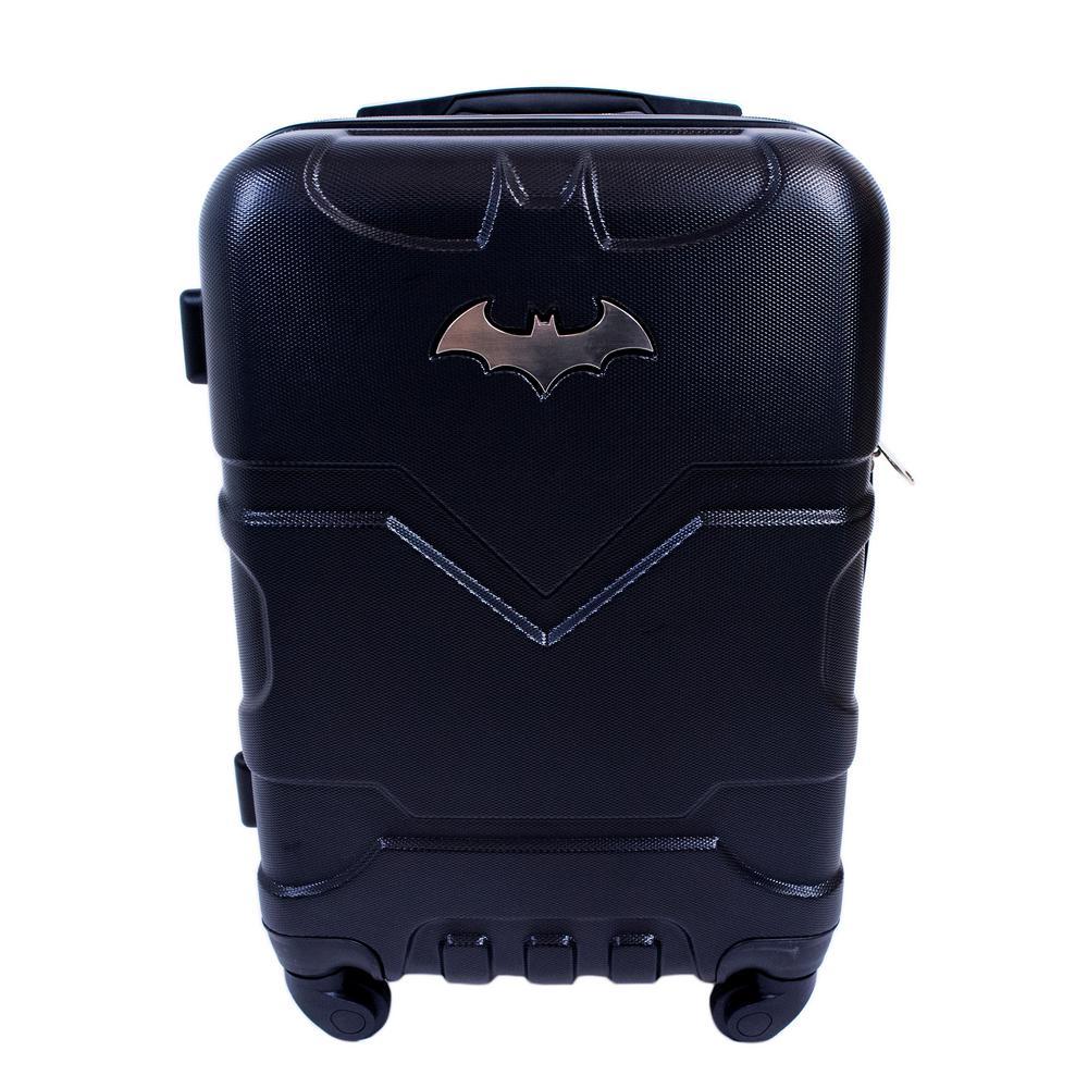 DC Comics Batman 21 in. Black Hard Sided Carry-On Luggage Spinner ... de3da23867385