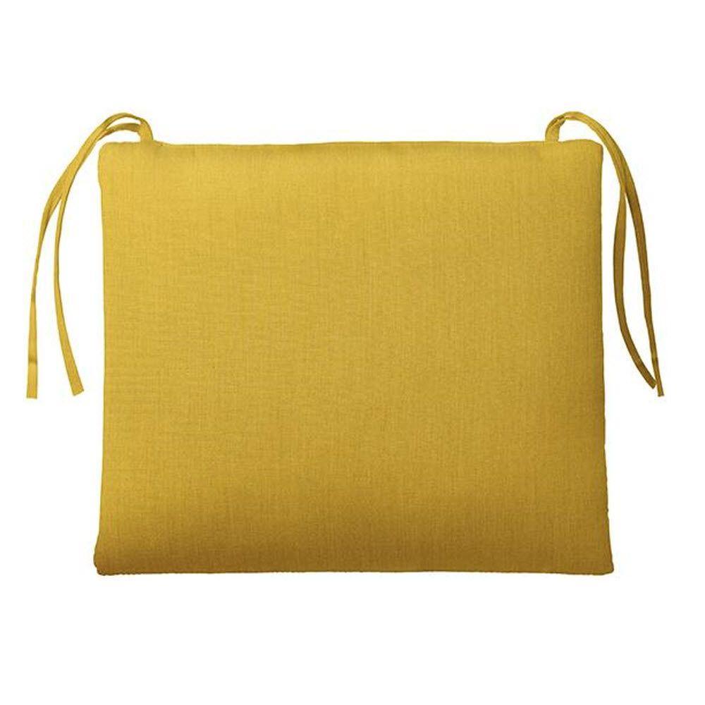 Home Decorators Collection Sunbrella Daffodil Rectangular Outdoor Seat Cushion