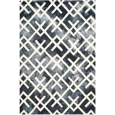 Dip Dye Graphite/Ivory 5 ft. x 8 ft. Area Rug