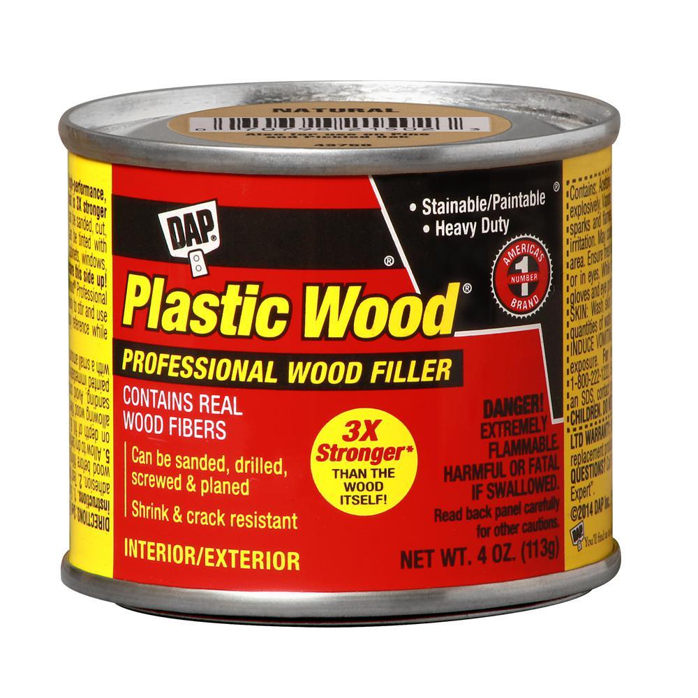 Plastic Wood 4 oz. Natural Solvent Wood Filler (12-Pack)