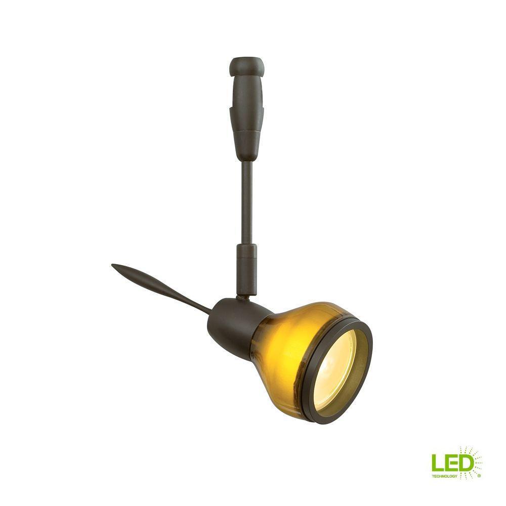 LBL Lighting Vent 1-Light Bronze LED Track Lighting Head