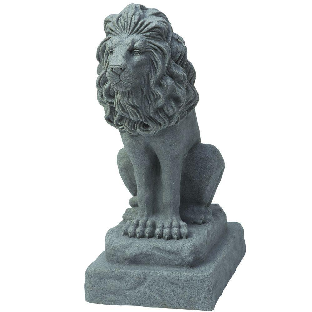 Guardian Lion Statue In Grey