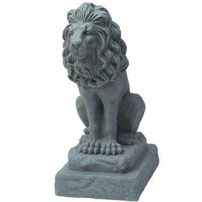 28 in. Guardian Lion Statue in Grey