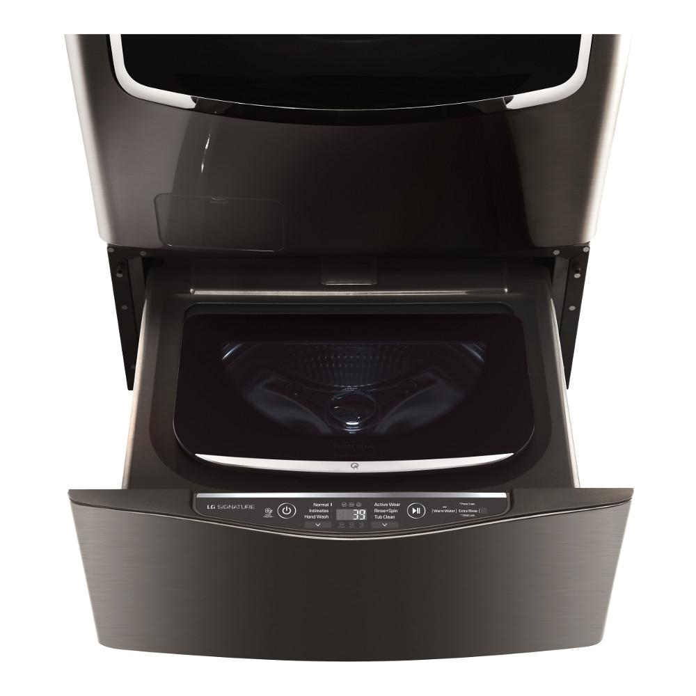 29 in. 1.0 cu. ft. SideKick Pedestal Washer in Black Stainless