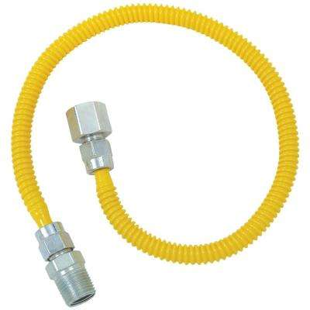 Gas Dryer Flex-Line (3/8 in. O.D. (1/2 in. FIP x 1/2 in. MIP) x 48 in.)