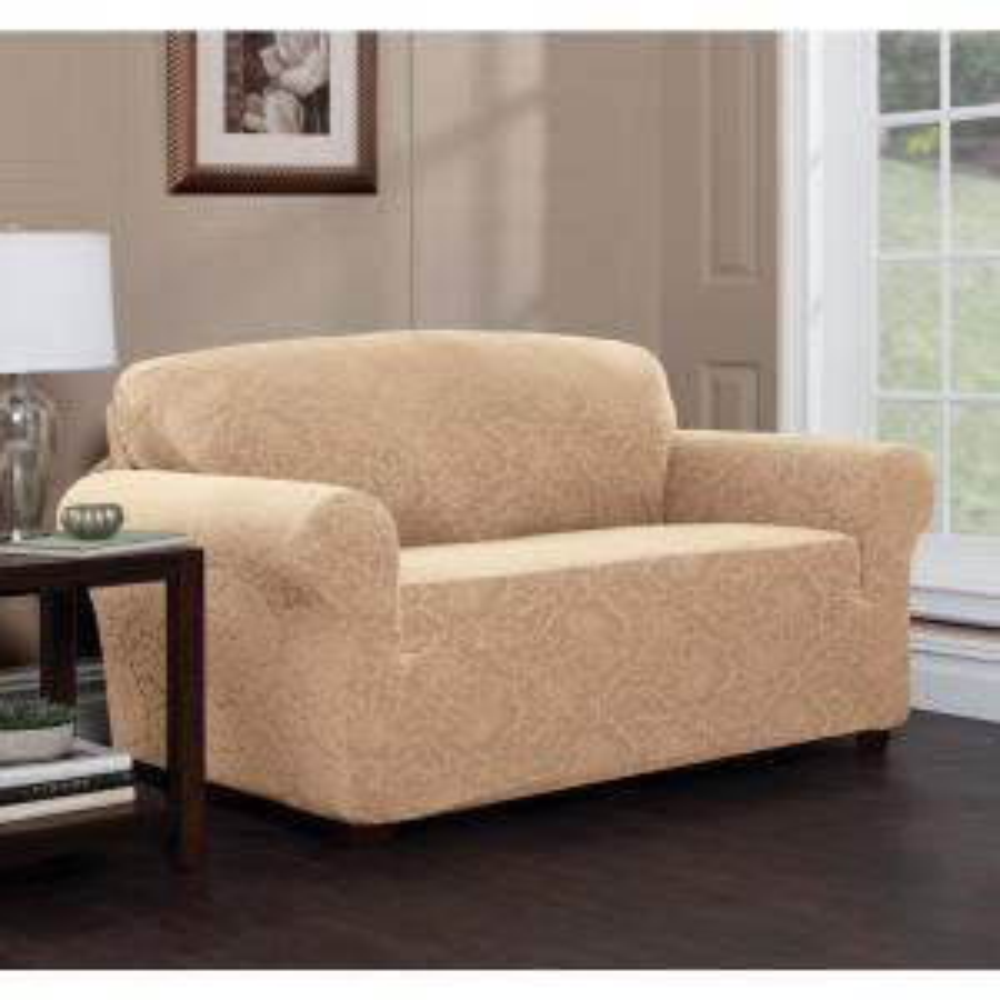 Tremendous Stretch Sensations Stretch Floral Loveseat Slipcover Pabps2019 Chair Design Images Pabps2019Com