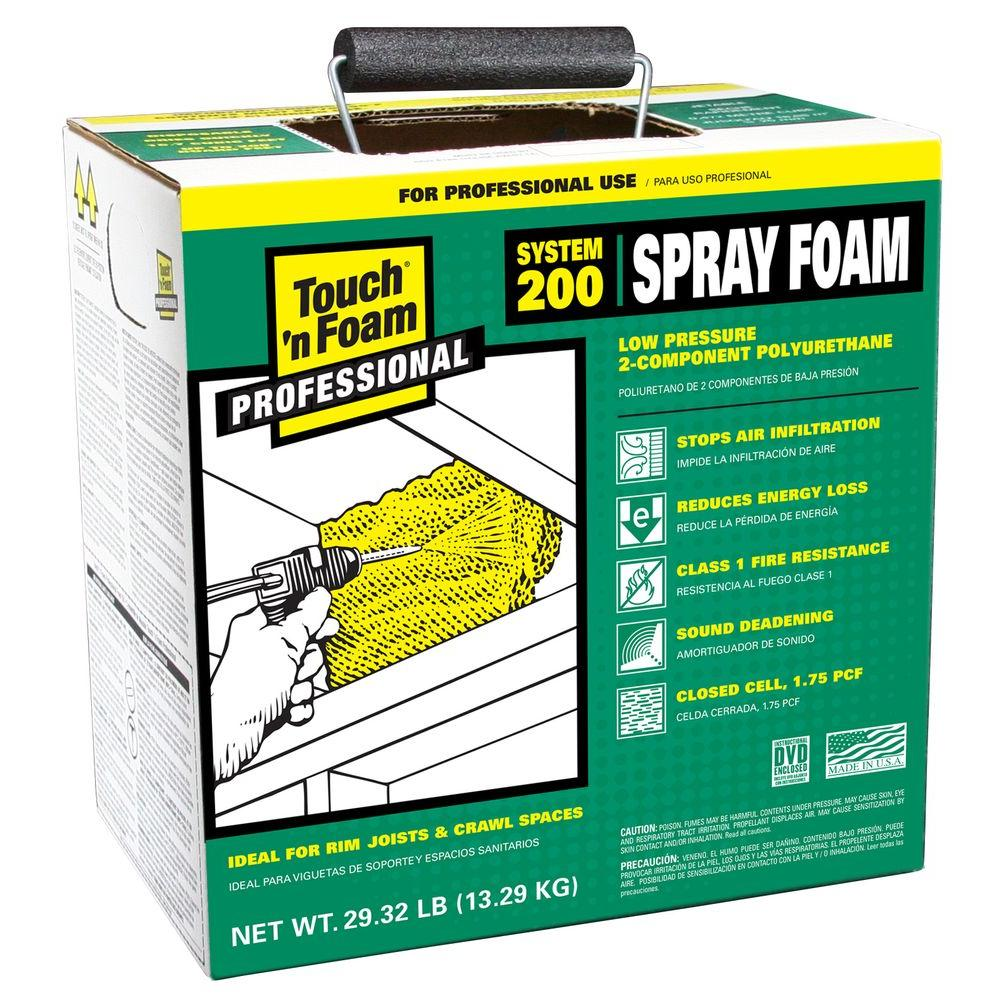 Touch N Foam 200 Ft Board Polyurethane 2 Component Spray Foam Kit