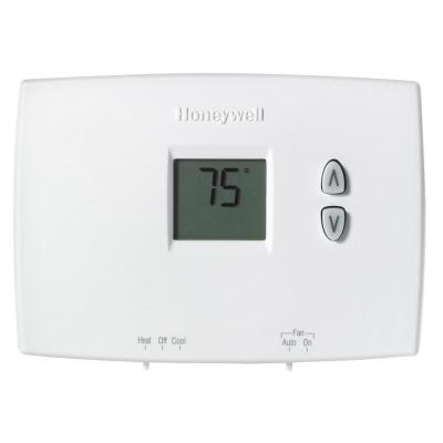 Horizontal Non-Programmable Thermostat with Digital Display