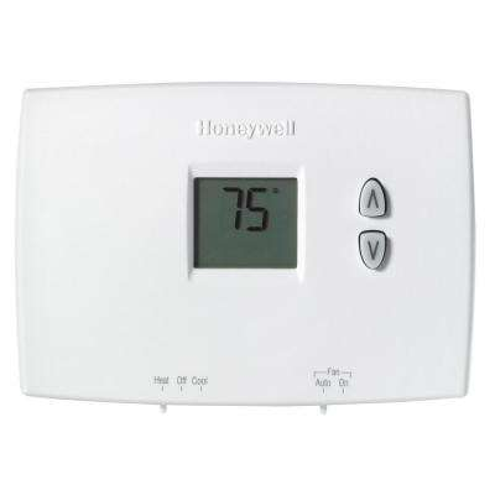 Horizontal Digital Non-Programmable Thermostat