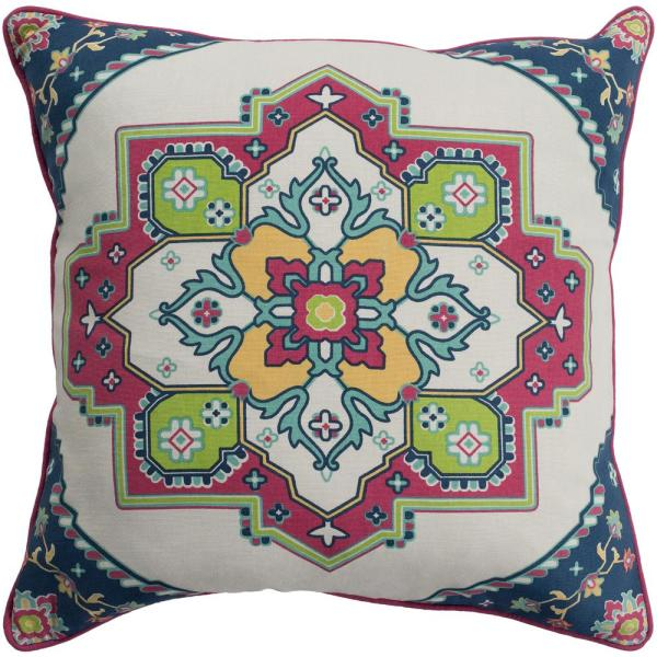Artistic Weavers Albaer Green Graphic Polyester 18 In X 18 In Throw Pillow S00161006913 The Home Depot